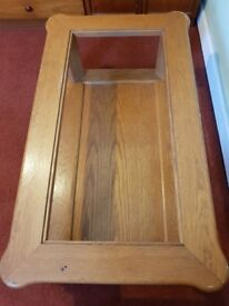 COFFEE TABLE SOLD OAK BARGAIN TO CLEAR £50 ANY REASONABLE OFFER SECURES