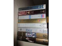 8 Opera Video Cassettes