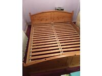 IKEA super king bed Pine