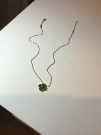 Van Cleef Arpels necklace- yellow gold, stone combination