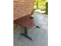 Vintage Ercol refectory kitchen/dining table Rustic Shabby chic Charcoal grey. LOCAL DELIVERY.