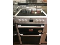 60CM WHITE BEKO ELECTRIC COOKER DOUBLE OVEN