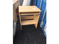 Small desk on wheels