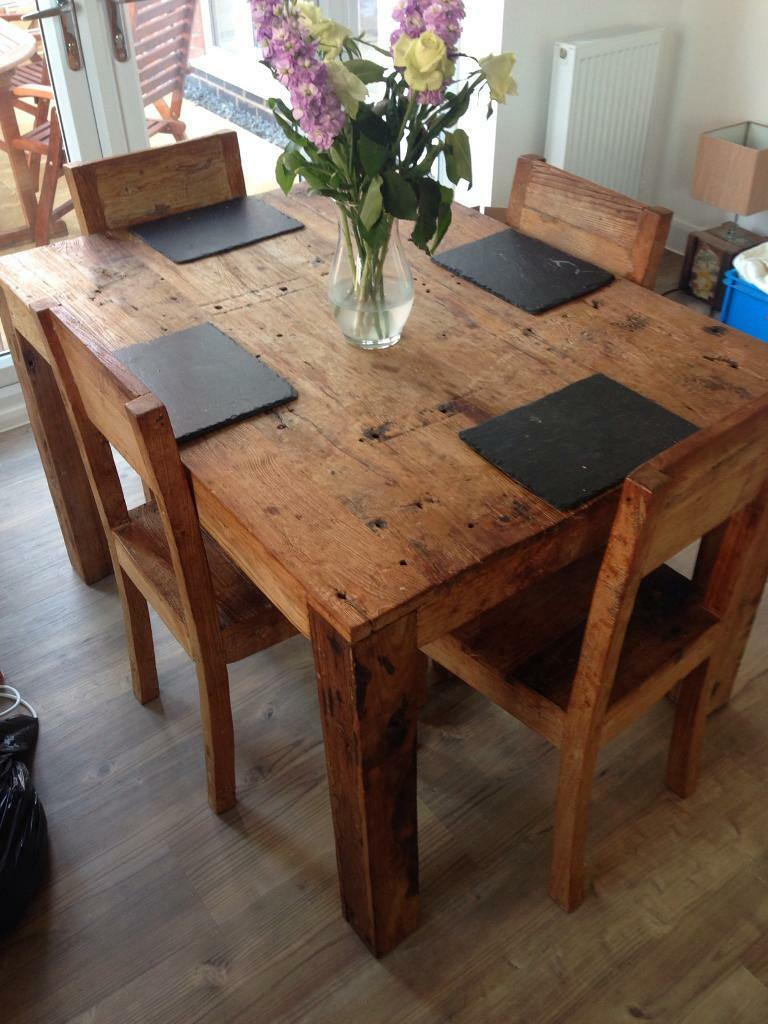 Reclaimed Wood Dining Table In Syston Leicestershire Gumtree