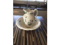 Victorian style Pitcher jug & wash basin