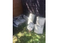 Coping stones - 4 large 4 small - no charge