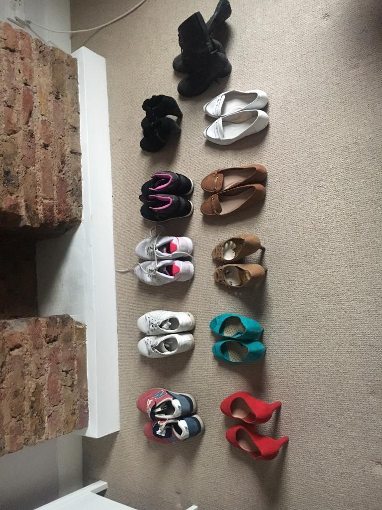 Variety of size 8 ladies shoes