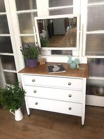 SHABBY CHIC DRESSING TABLE/CHEST FREE DELIVERY LDN🇬🇧