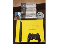 Sony Playstation 2 Slim (Boxed) with 15 games
