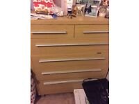 Solid wood chest of drawers 6x drawers mint condition