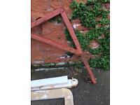 Punch kick bag frame pole stand garden