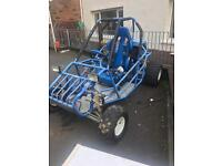 Single seat buggy with independent suspension