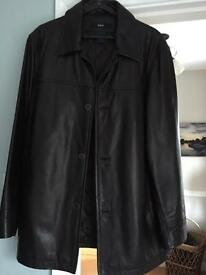 Men's brown Gap real leather jacket