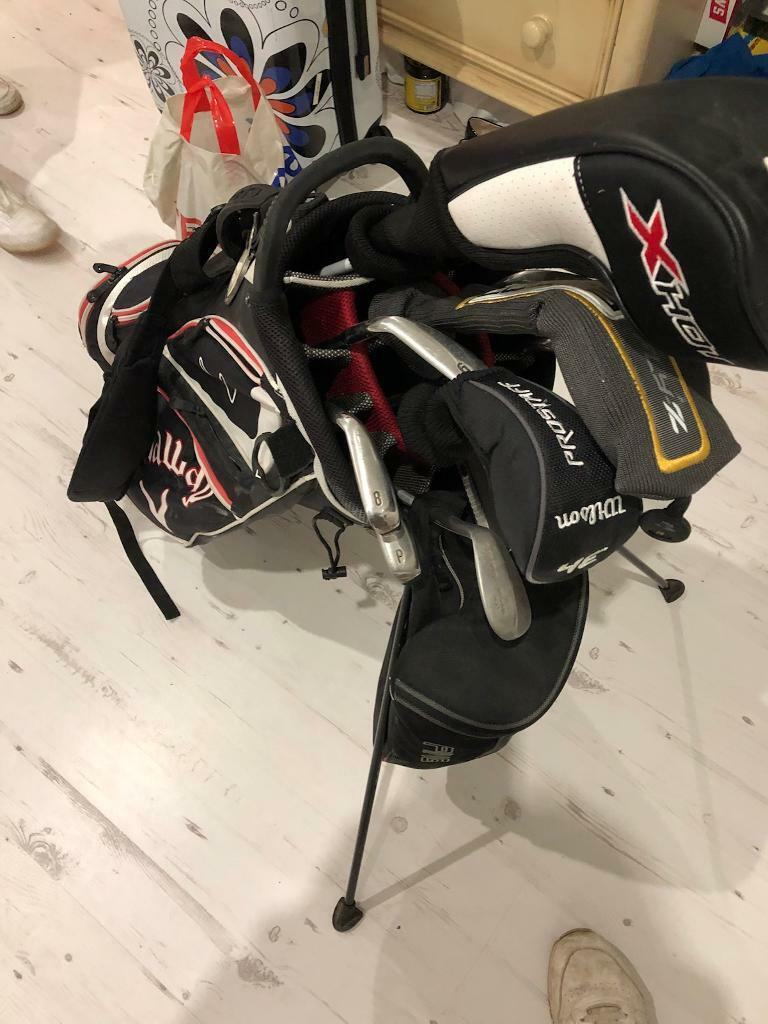 Golf set - 5-SW , Driver , 3 Wood , 3H , Putter +Bag
