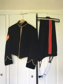 RLC SNCOs Mess Dress with boots SSgt rank