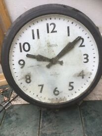Large outdoor clock for sale, black and white