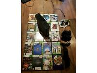 Xbox 360 s 250gb with two controllers and kinect with over 80 games