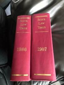 Reference Books : The Scots Law Times 1986 & 1987