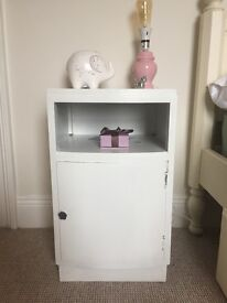FREE DELIVERY solid wood white bedside cabinet