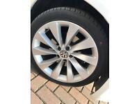 """⭐️⭐️⭐️⭐️⭐️fantastic 18""""VW alloys and tyres"""