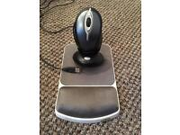 Logitech Wireless Mouse and mousemat
