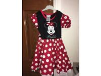 Minnie Mouse dress and hat