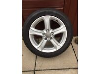 "1 17"" Audi teknik alloy and tyre like new."