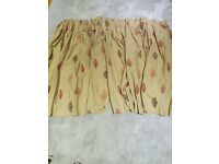 Pair of pencil pleat curtains