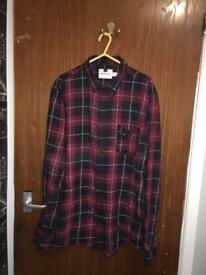 Men's checked shirt size Large
