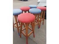 Lovely wooden Bar stools , Breakfast bar stools ,cafe stools, never been used