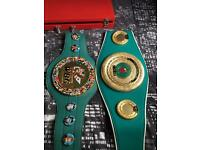 WBC & IBO boxing belt