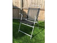 Black/Silver Folding Garden Garden Chairs (x6)
