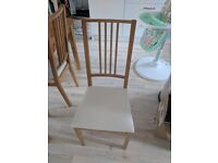 Ikea Pine Wood Dining Table and 4 Chairs