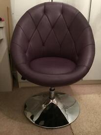 Purple swivel chair