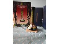 Moorcroft New Dawn vase+Hardback Book.