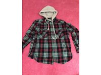 Womens Hooded Shirt Size Small