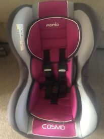 Pink 5point harness car seat from birth