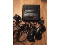 Sega mega drive 2 16bit with 11 games