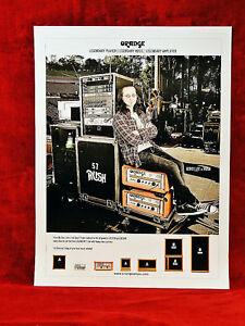Rush *Geddy Lee* Orange Amplifiers Promo Poster