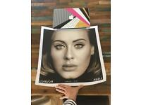 FREE - Two Original Adele VIP POSTERS - London O2 March 2016 13/300 and 15/300