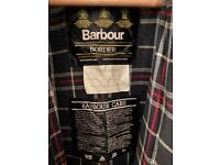 Barbour Border waxed jacket size 38