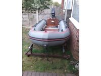 11ft Avon heavy duty inflatable with 4ph Mercury outboard £550 ovno