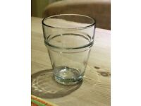 Anchor 9oz stackable rock glasses with tempered rims.