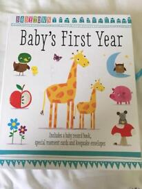Baby's First Year - Record Book and moment cards set