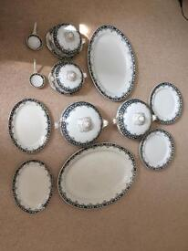 Vintage 1930s dinner service plates and terrines