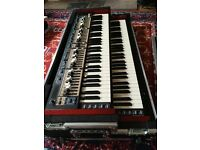Nord C2D Organ-hammond clone with custom wheeled flight case, half moon switch, legs & leg brackets