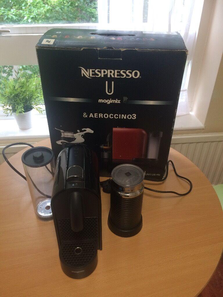 Nespresso U Machine Nespresso Magimix U Pure Black Coffee Machine In Coventry West