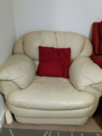 Leather sofa 2 seater and 1 seater