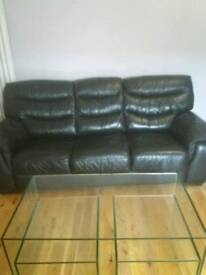 Bargain Genuine leather sofa (bed)