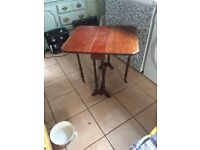 Old small gateleg side table / hall table